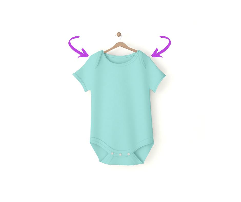 newborn onesie hack