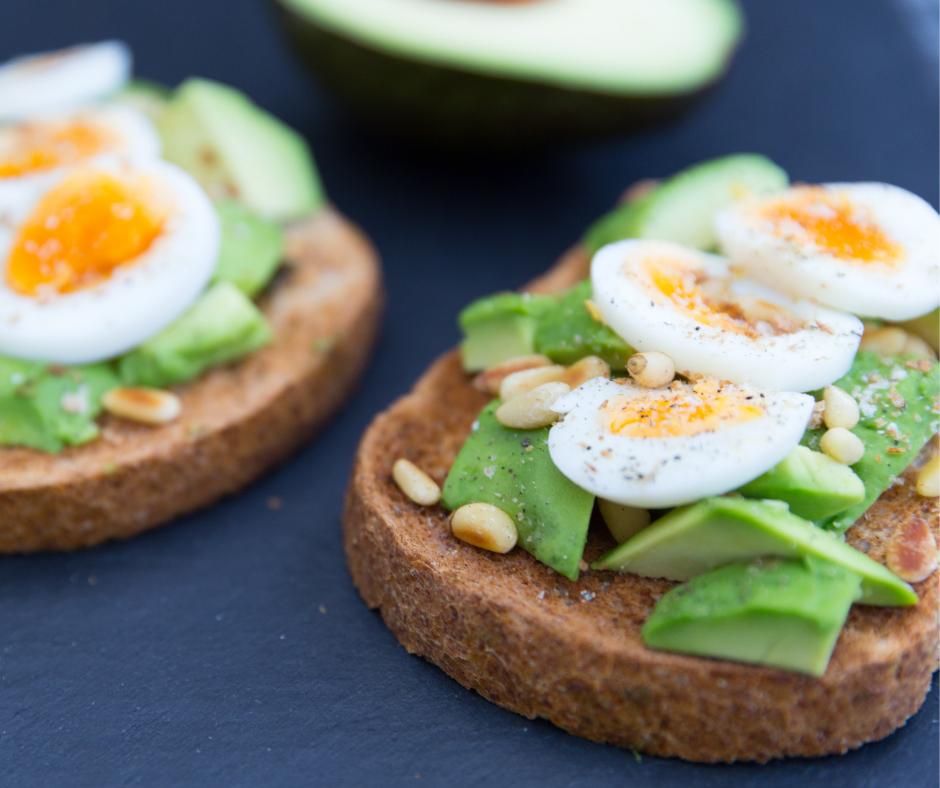 avocado toast with hardboiled egg
