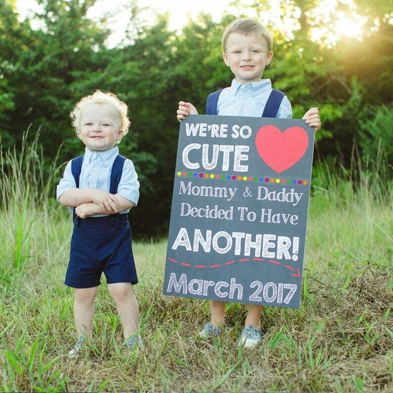 expecting baby 3 announcement