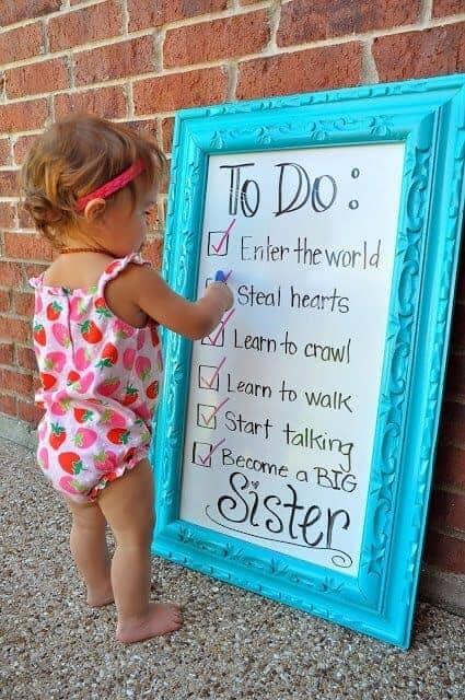 to do list become a big sister