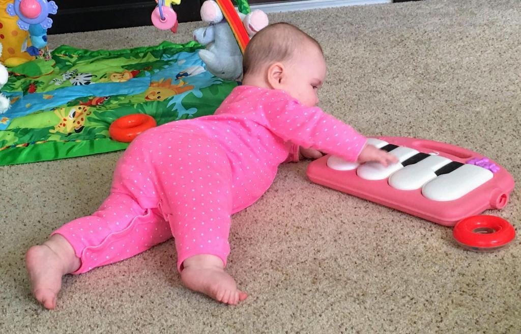The piano from the kick n' play gym is  one of the great gifts for baby.