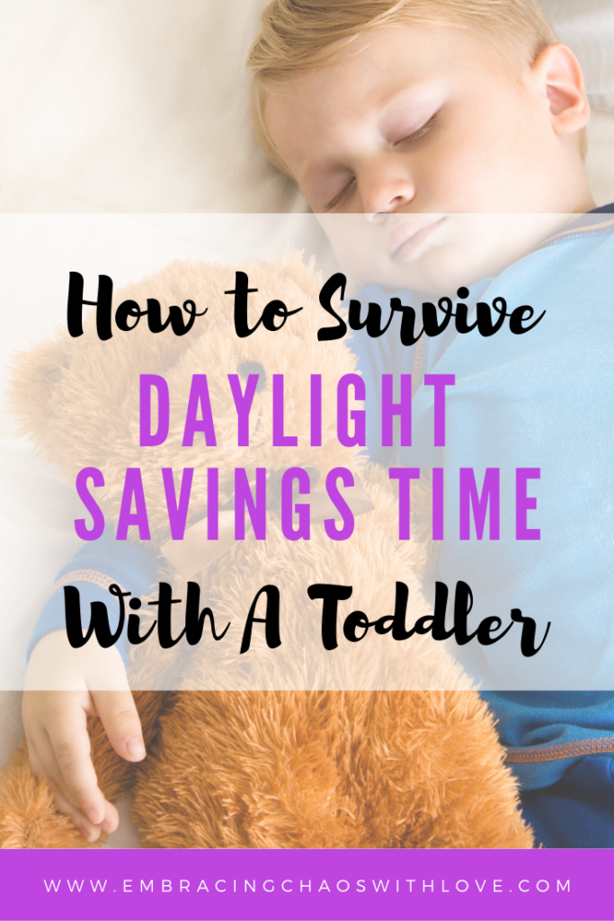 How to survive daylight savings time with a toddler