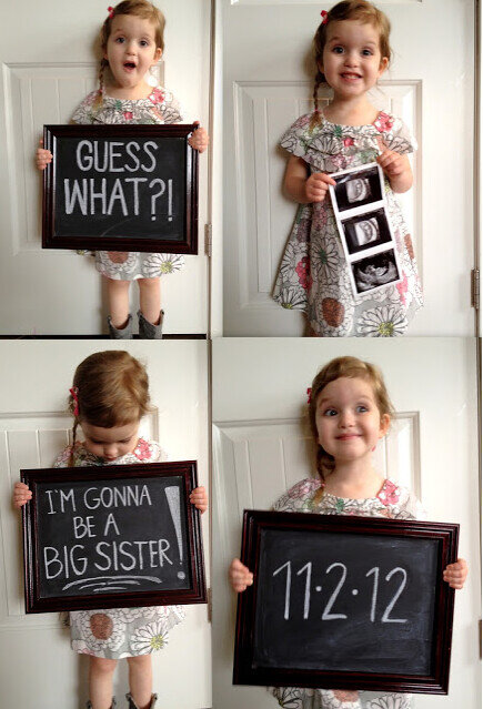 expecting baby 2 announcement