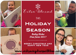 christmas card pregnancy announcement with 2nd baby