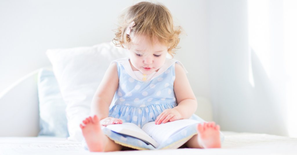 toddler reading activity at home