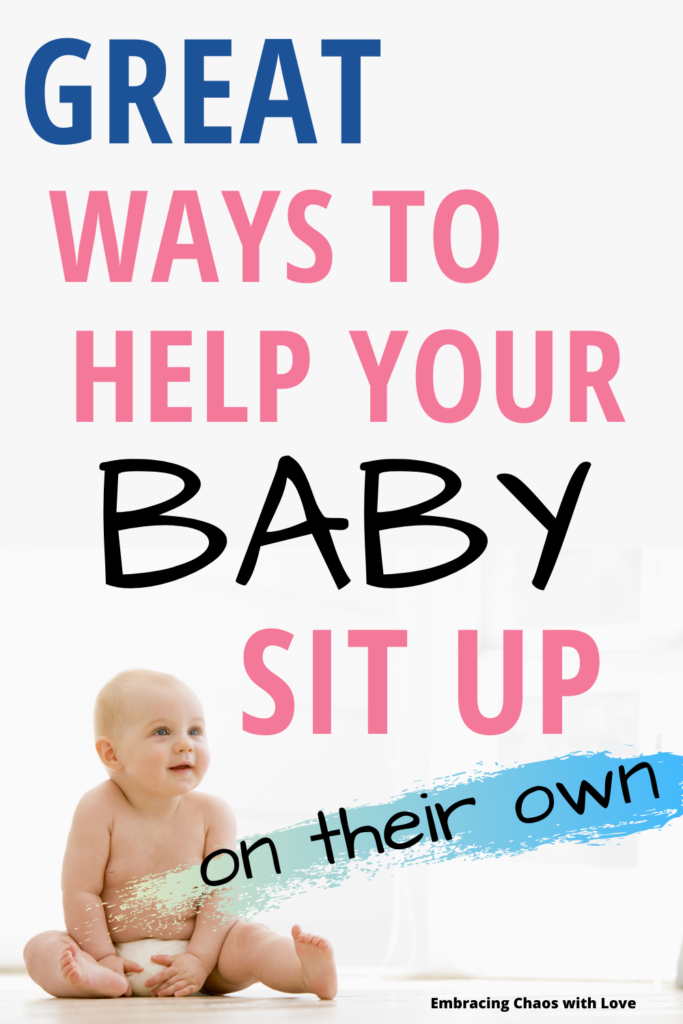 helping baby sit up on their own