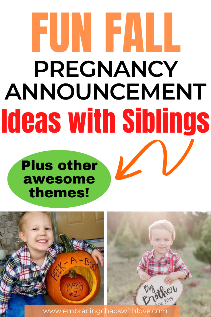 Creative and Unique Pregnancy Announcement Ideas with Siblings