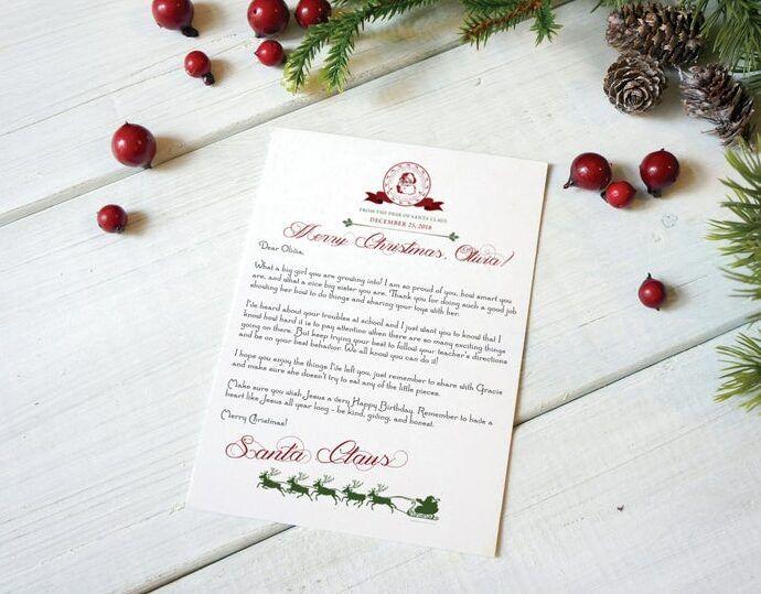 Santa letter for toddler