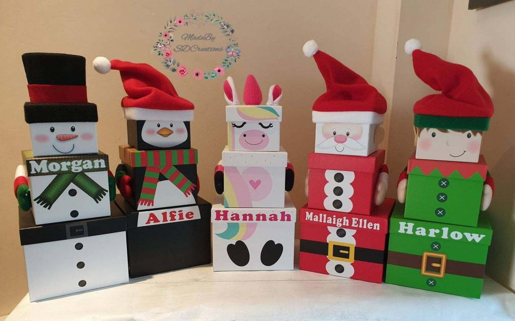character gift boxes for Christmas Eve
