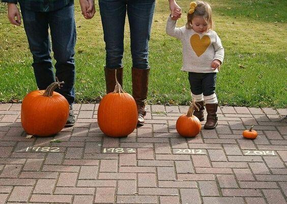 fall pregnancy announcement