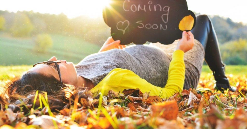 fall pregnancy reveal