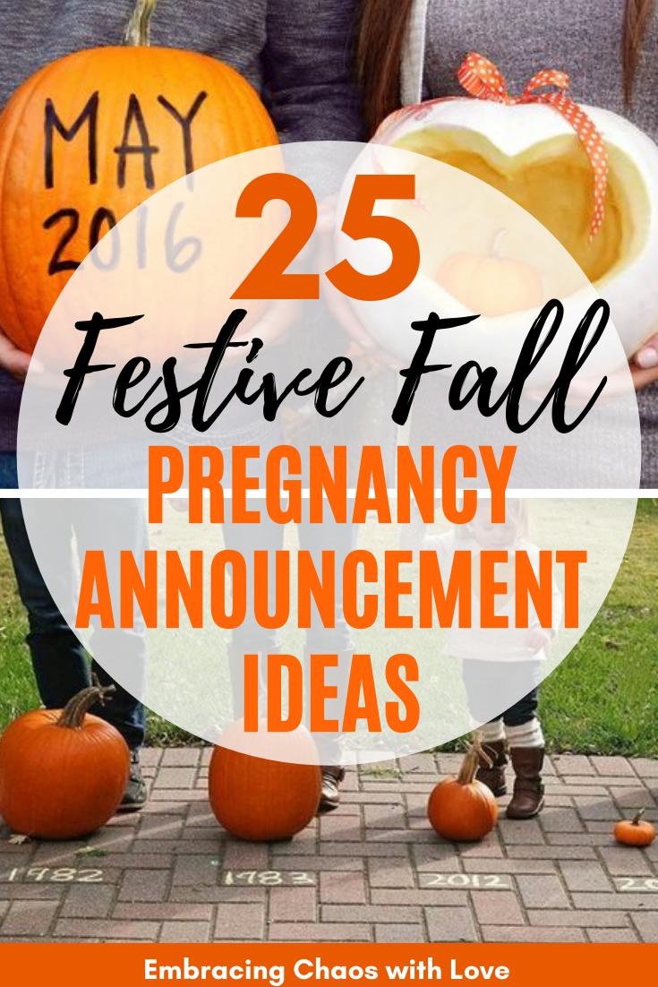 Cute and Festive Fall Pregnancy Announcement Ideas