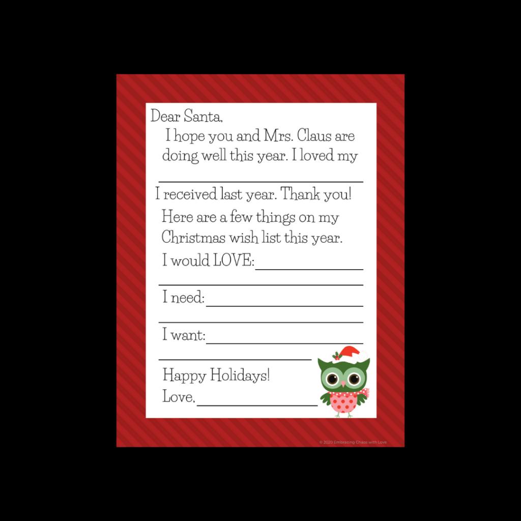 wish list for Santa