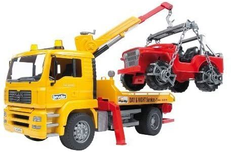 realistic toy tow truck