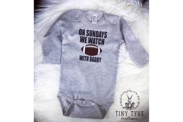expecting dad sports onesie gift