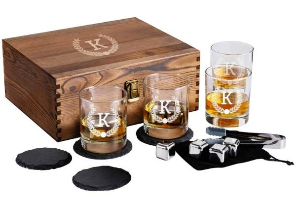 whiskey glass set for new dad