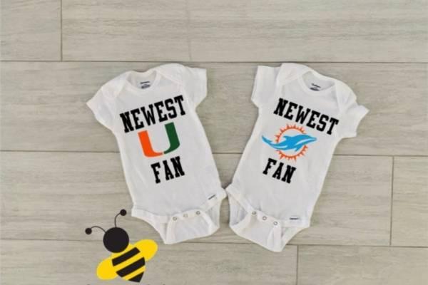 sports team onesie as new dad gift